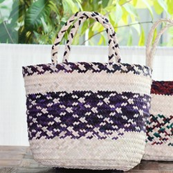 Picture of JUTE BASKET COLORED LARGE