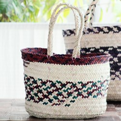 Picture of JUTE BASKET COLORED MEDIUM